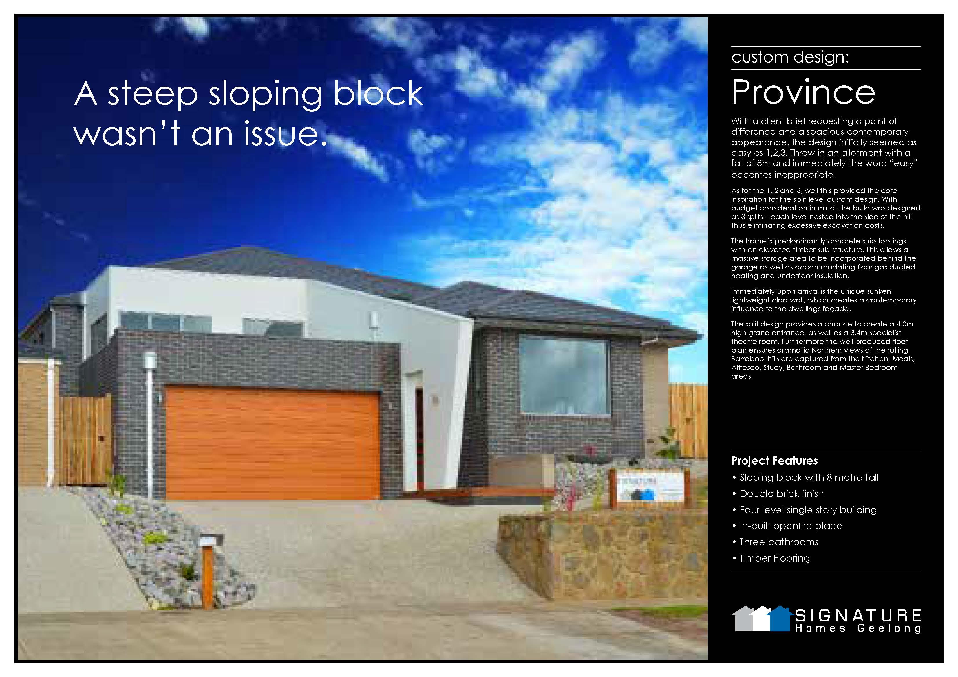 Signature Homes Geelong Custom Designs